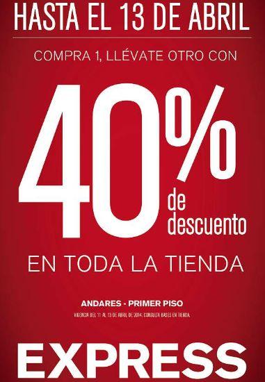 Express: 40% de descuento en la segunda prenda