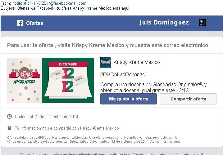 DOCENAS DE DONAS KRISPY KREME 2 X 1