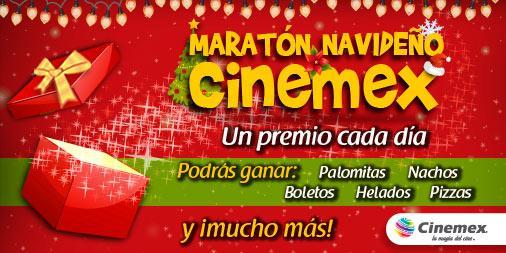 Maratón navideño Cinemex: regalos cada día (se necesita ser Invitado Especial)