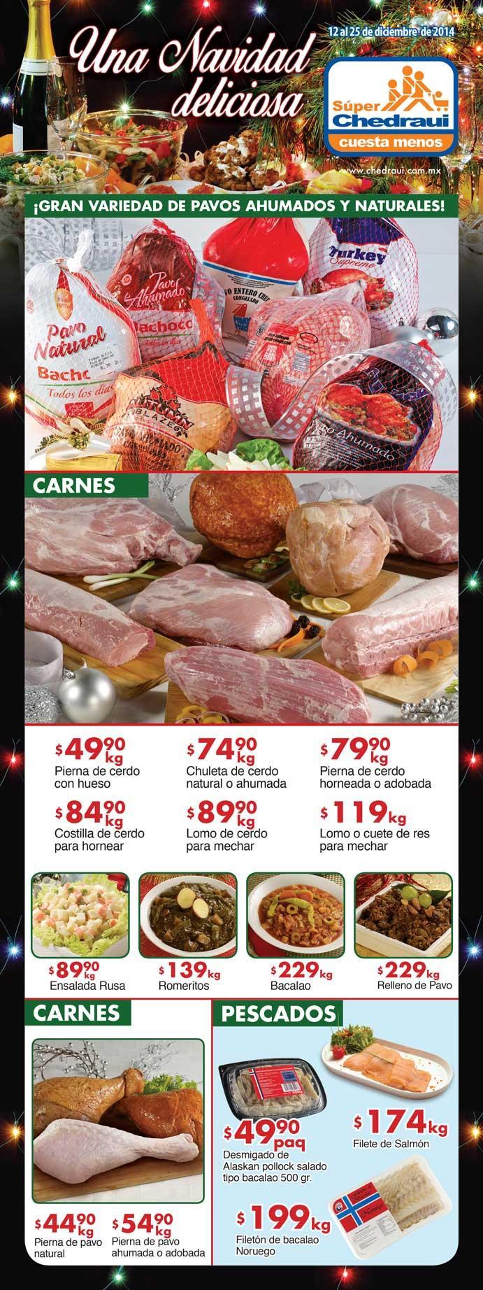 Folleto de ofertas en Chedraui del 12 al 25 de Diciembre