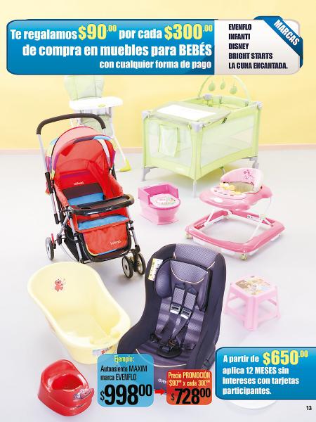 Folleto Comercial Mexicana: Con cualquier forma de pago $90 de descuento por cada $300 en muebles para bebés