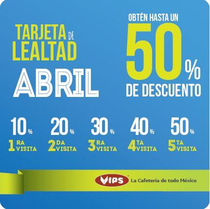 Vips: tarjeta lealtad hasta 50% de descuento acumulando visitas