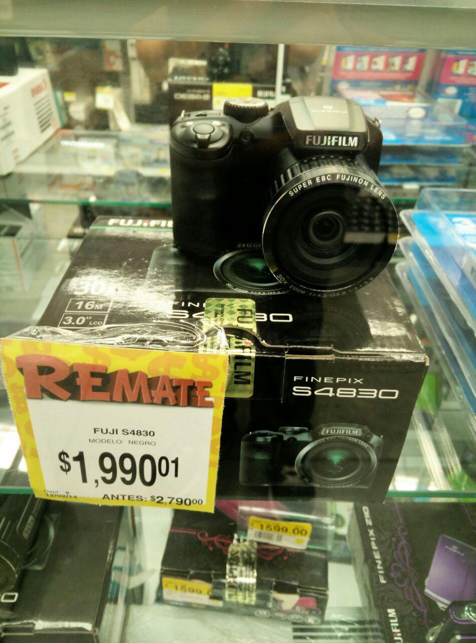 Bodega Aurrerá: Camara Fujifilm Finepix S4830, Zoom 30X, 16MP $1,990