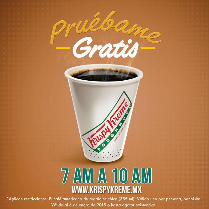 Krispy Kreme: café gratis en la mañana, te gratis en la noche