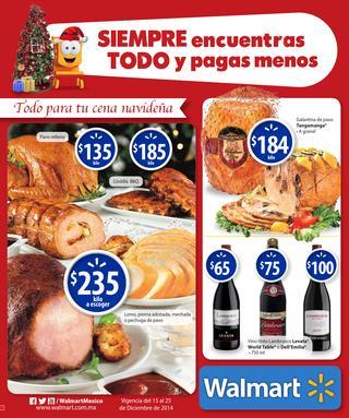 Folleto de ofertas de Walmart del 15 al 25 de diciembre