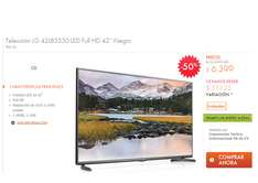 Linio: Televisión LG LED Full HD 42'' $6,399