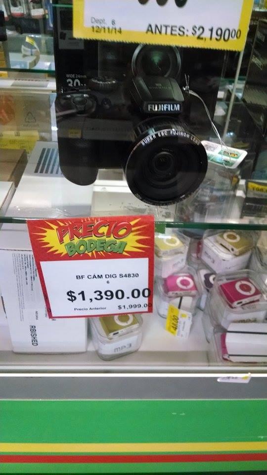 Bodega Aurrerá: Cámara Fujifilm Finepix S4830 $1390 y Samsung WB35 $990
