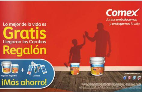 Comex: galón o litro de pintura gratis comprando cubeta o galón
