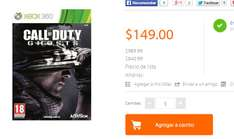 Walmart.com: Call Of Duty Ghosts para Xbox 360, PS3 y Wii U $149.00