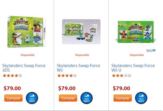 Walmart: Skylanders Swap Forece Wii, 3DS, WiiU, PS3 y Xbox 360 a 79 pesos