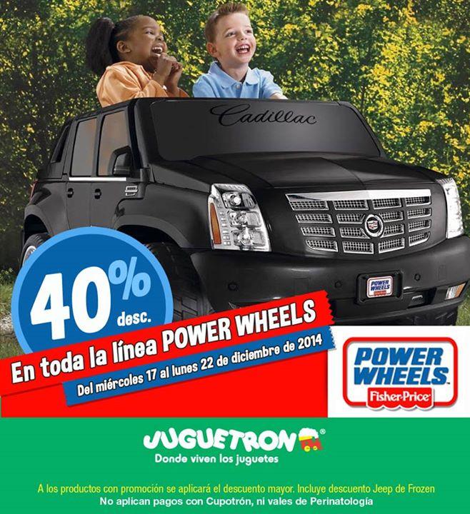 Juguetron: 40% de descuento en Power Wheels