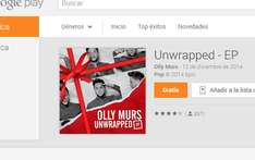 Google Play: disco Unwrapped de Olly Murs gratis