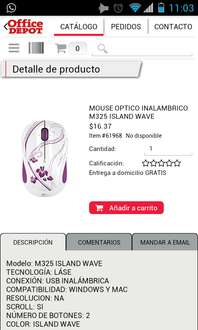 Office Depot: Mouse inalámbrico island wave $16