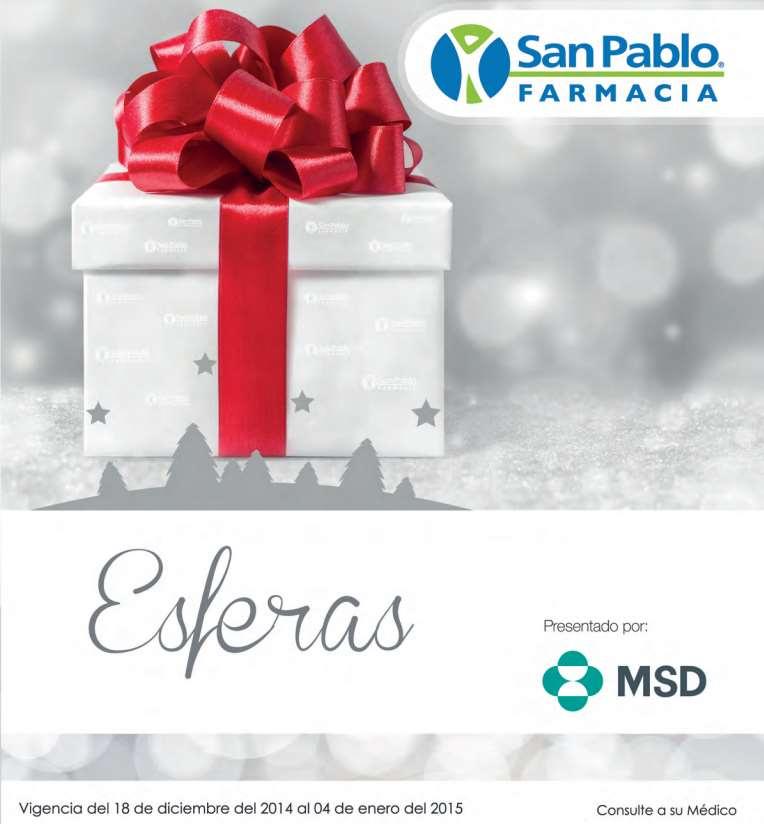 Folleto de ofertas de Farmacias San Pablo del 18 de diciembre al 4 de enero
