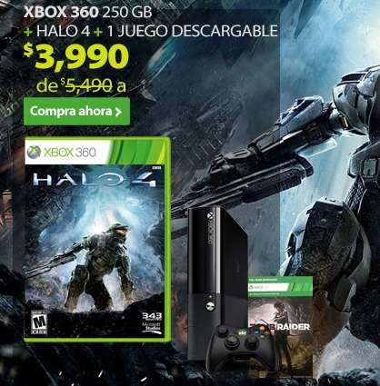 Walmart: Xbox 360 de 250GB con Halo 4 y Tomb Raider $3,591 ó $3,990