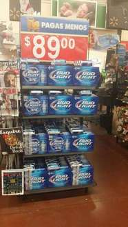 Walmart: 14 cervezas Bud light $89