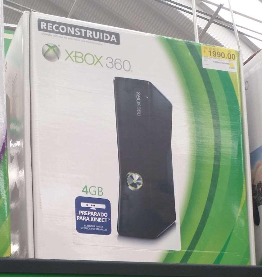Bodega Aurrerá: Xbox 360 4gb $1,990