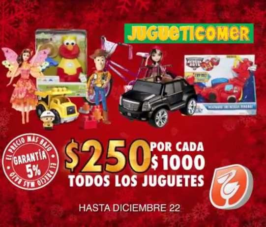 La Comer: $250 de descuento por cada $1,000 de compra en juguetes