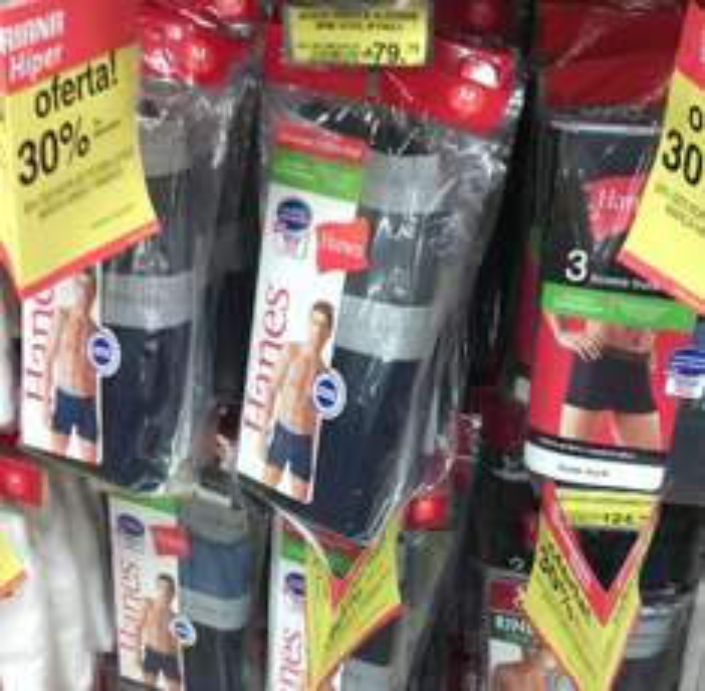 Soriana 30% de descuento en ropa interior para caballero