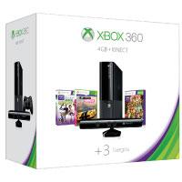 RadioShack: xbox 360 kinect y 3 juegos $3,699