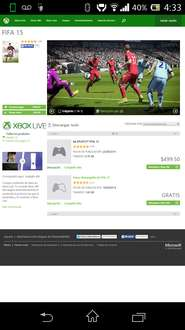 XBOX Marketplace: FIFA 15 para XBOX 360 a $499.50, COD: Advanced.Warfare $749.25