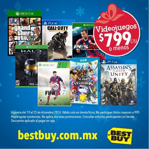 Best Buy: todos los videojeugos a $799 o menos
