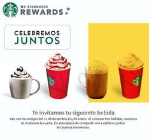 Starbucks: cuarta bebida gratis