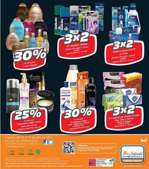 Folleto de ofertas en Chedraui del 4 al 17 de abril