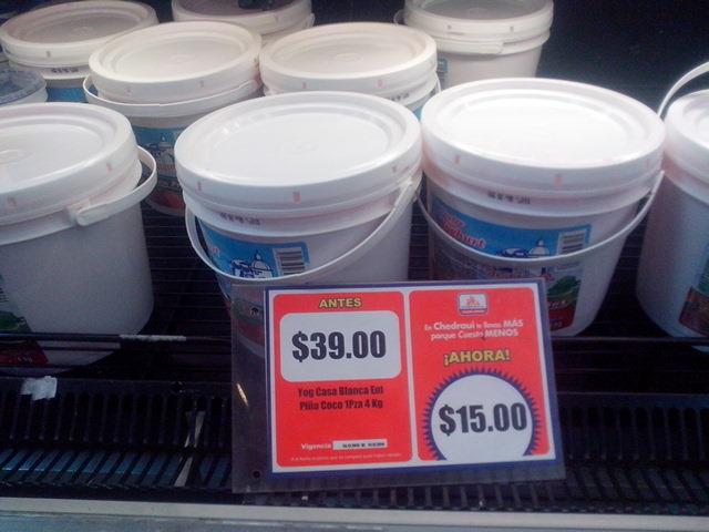 Chedraui: yogurt 4Kg EN PROMOCION! DE $39.00 A $15.00