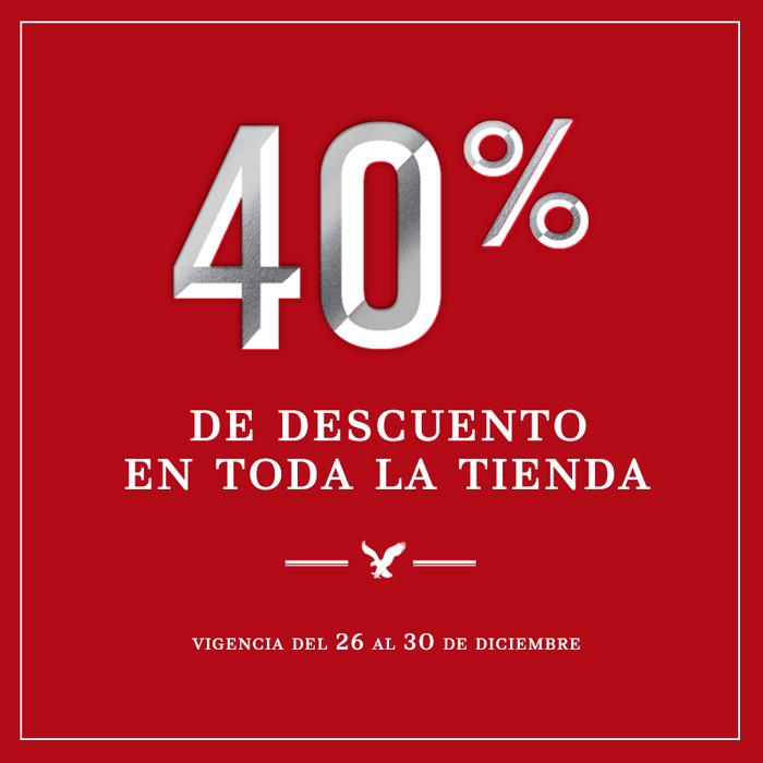 American Eagle: 40% de descuento en toda la tienda