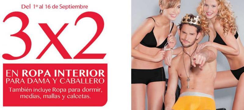 Sears: 3x2 en ropa interior de hombre y mujer