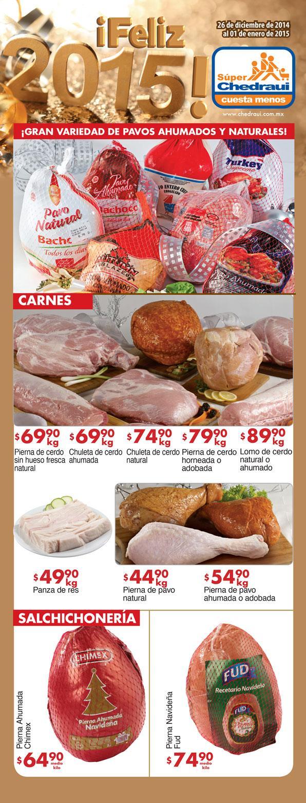 Folleto de ofertas en Chedraui del 25 de Diciembre al 01 de Enero