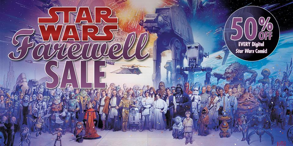 50% de descuento en todos los comics de star wars de dark horse
