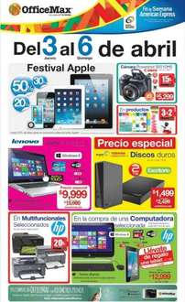 OfficeMax: festival Apple y otras ofertas especiales