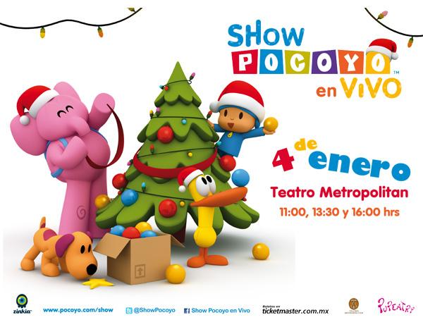 Boletos GRATIS para el show Pocoyo en vivo en el teatro metropolitan el 4 de enero. (PERISUR DF).