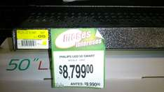 "Bodega Aurrera: Led Smart Philips 50"" 120hz $8,799"