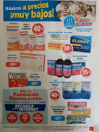 Folleto de ofertas de Farmacias Guadalajara del 1 al 15 de enero 2015