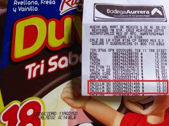 Bodega Aurrerá: Duvalín 18 Piezas por $10