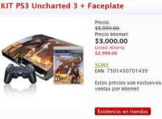 Sanborns: PS3 160GB con Uncharted 3 $3,000