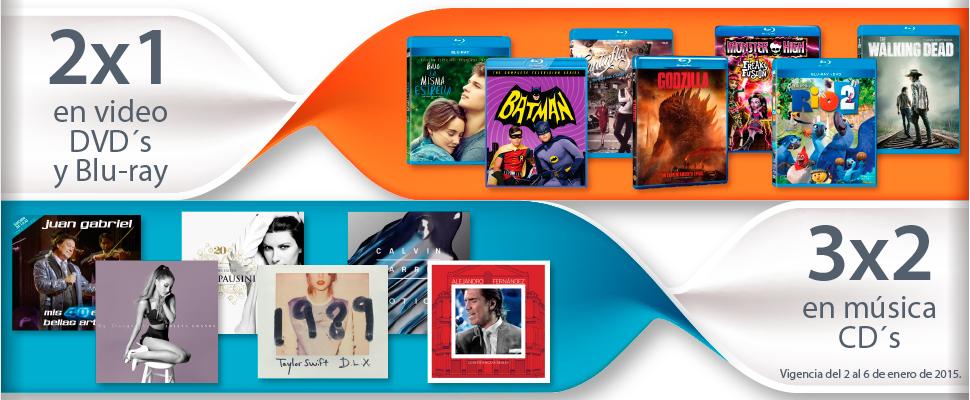 Sears: 2x1 en películas y series y 3x2 en blu-rays