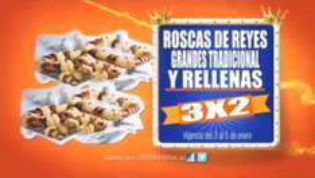 Chedraui: 3x2 en Roscas de Reyes Grandes y Rellenas