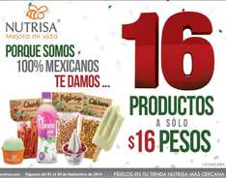 Nutrisa: promociones del Día del Independencia (helado mini gratis comprando doble y más)