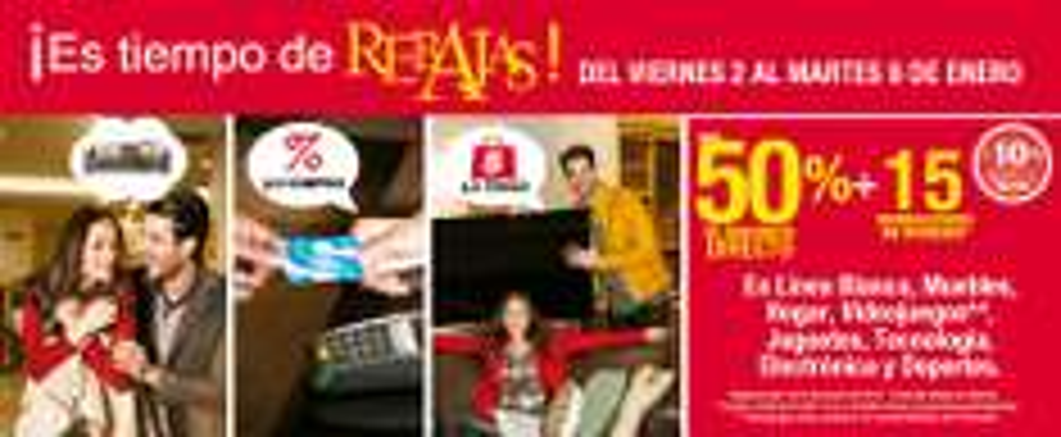 Sears: Hasta 50% de descuento y 15 meses sin intereses