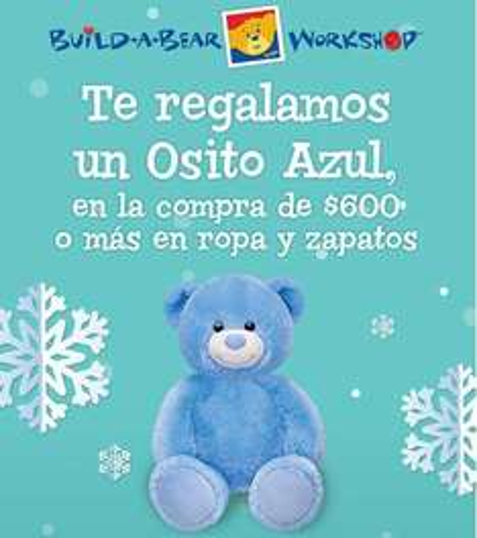 Build a Bear: osito azul gratis comprando $600 de ropa y zapatos