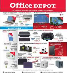 Folleto de ofertas en Office Depot abril 2014