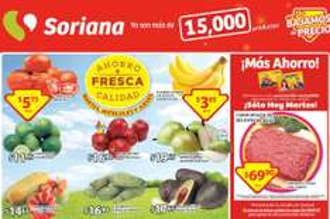 Soriana: 30% de descuento en sartenes, molida de res especial $70/Kg y más