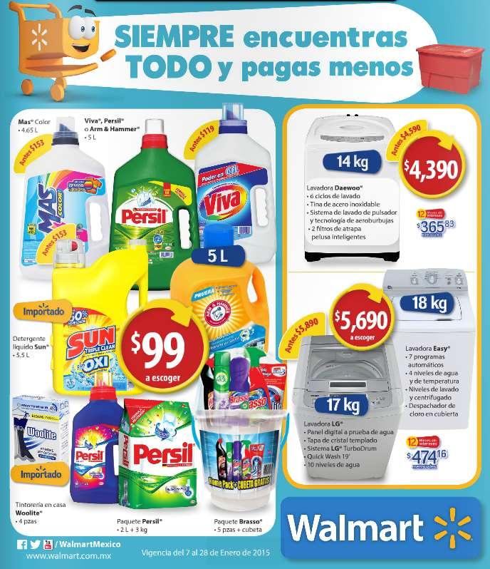Folleto de ofertas de Walmart del 7 al 28 de enero