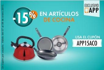 Linio: 15% de descuento en articulos de cocina en la APP