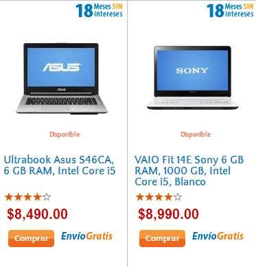 Walmart: Ultrabook Asus con i5, 6GB de RAM y 750GB DD $8,490 y más