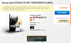 G2A: preventa juego Dying Light para PC (llave Steam) $473